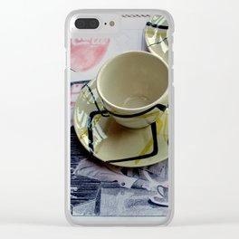 Hava Cuppa? Clear iPhone Case