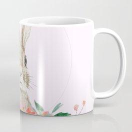 rabbit and pink camellia flower Coffee Mug