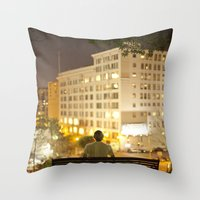 500 days of summer Throw Pillows featuring 500 Days of Summer by Kevin Clark