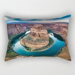 Horseshoe Bend at Sunset Rectangular Pillow