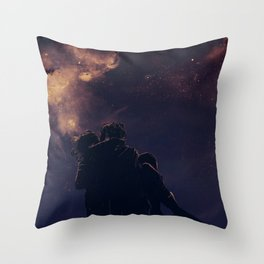 Under the Galaxies Throw Pillow