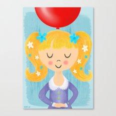 Make A Wish Birthday Girl Canvas Print