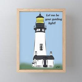 Let Me Be Your Guiding Light  Framed Mini Art Print