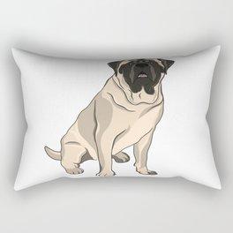 Mastiff the French Bulldog Rectangular Pillow