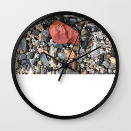 Little Rocks from the Beach Wall Clock