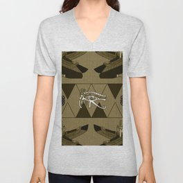 The all seeing ey with scarab Unisex V-Neck