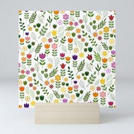 Scandinavian Style Flora & Fauna Pattern Mini Art Print