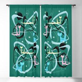 Atomic Rocket Cats In Space Blackout Curtain