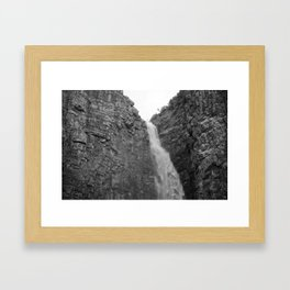 water fall Framed Art Print