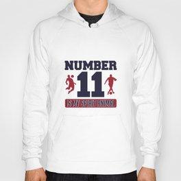 Number 11 Is My Spirit Animal - Funny Striker Hoody
