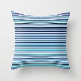 Old Skool Stripes - Sea Foam - Horizontal Throw Pillow
