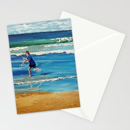 You throw the sand against the wind Stationery Cards