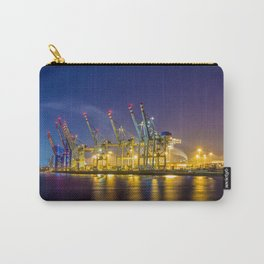Port of Hamburg at night with colorful illumination Carry-All Pouch