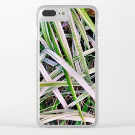 Leaves of Grass Clear iPhone Case