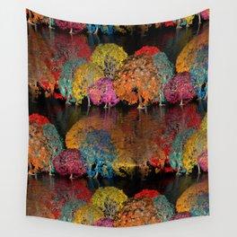 a seamless geometric horizon -1- Wall Tapestry