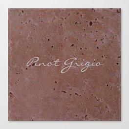 Pinot Grigio Wine Red Travertine - Rustic - Rustic Glam - Hygge Canvas Print