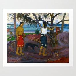 Under the Pandanus by Paul Gauguin Art Print
