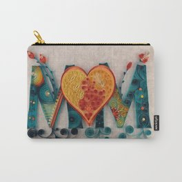 Teal Orange MOM Carry-All Pouch
