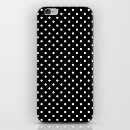 Black & White Polka Dot Pattern iPhone Skin