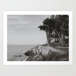 COYOTE POINT VI (B+W) Art Print