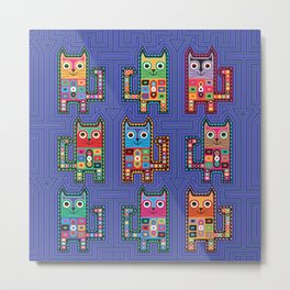 Cats on Molas Metal Print