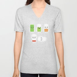 Funny Low Exhausted Drained Dead Battery Low Battery Life Energy Unisex V-Neck