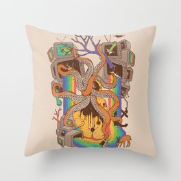 A Fragmented Reality Throw Pillow