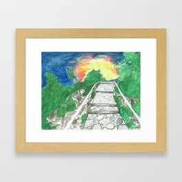 Evening Over Mt. Baldy Framed Art Print