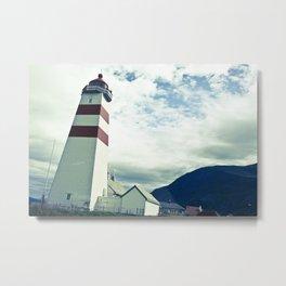 Lighthouse in norway Metal Print
