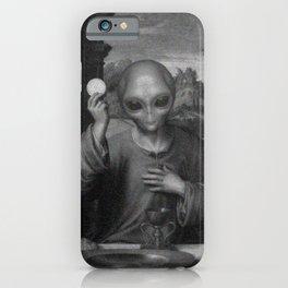 Alien Jesus iPhone Case