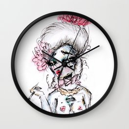 Rococo Goddess Wall Clock