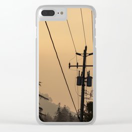 Yellow Mountain Haze Clear iPhone Case