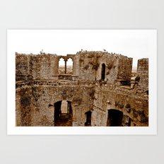 Castle Walls Art Print
