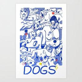 Dogs✧ Art Print