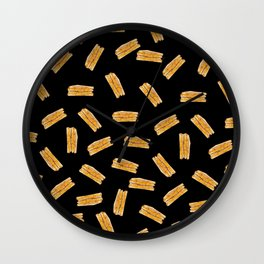 Grilled Cheese, Please (Black) Wall Clock