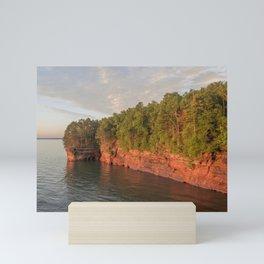 Bayfield Peninsula Caves on Lake Superior Mini Art Print