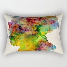 Germany Watercolor Map (Deutschland) Rectangular Pillow