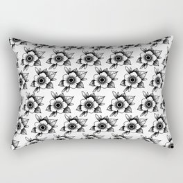 trad flower Rectangular Pillow