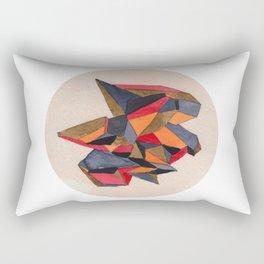 Autumn Geometric Watercolour Rectangular Pillow