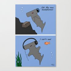 Hammerhead's Headphones Canvas Print
