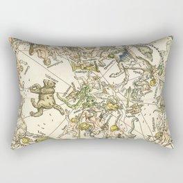 """Albrecht Dürer """"Celestial map of the Northern sky"""" Rectangular Pillow"""