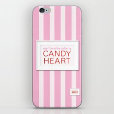 my favorite color is candy heart iPhone & iPod Skin