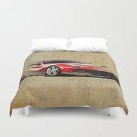 ferrari Duvet Covers featuring Ferrari F12 red awesome ferrari by Larsson Stevensem