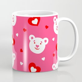 Valentine Teddy Bears and Hearts Coffee Mug