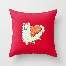 Alpaca Sushi Niguiri II Throw Pillow