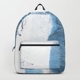 Blue hand-drawn watercolor Backpack