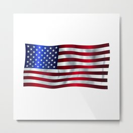 Old Glory Flag Metal Print