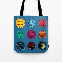 astrology Tote Bags featuring Astrology by Karthik