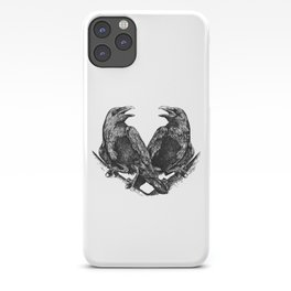 Odins Ravens Huginn and Muninn iPhone Case