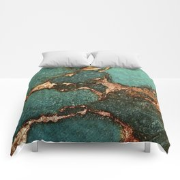 EMERALD AND GOLD Comforters